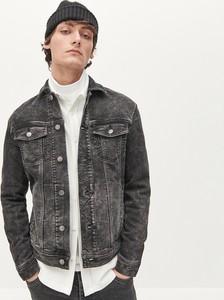 Czarna kurtka Reserved z jeansu w stylu casual krótka