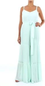 Sukienka Twinset maxi z dekoltem w kształcie litery v