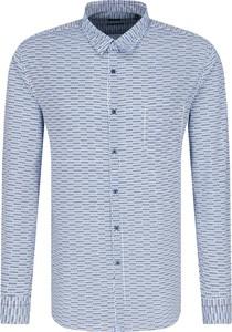 Niebieska koszula Hugo Boss w stylu casual z długim rękawem