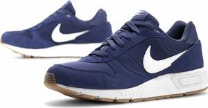Niebieskie buty sportowe Nike sznurowane ze skóry
