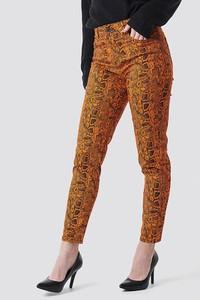 Spodnie NA-KD ze skóry ekologicznej w stylu klasycznym