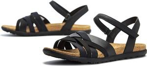 Sandały Merrell z płaską podeszwą w stylu casual ze skóry