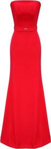 Czerwona sukienka Kasia Zapała maxi bez rękawów
