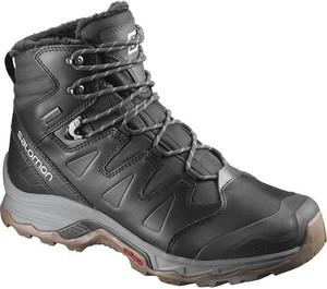 Czarne buty zimowe Salomon