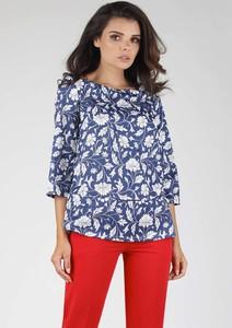 Niebieska bluzka Nommo z długim rękawem