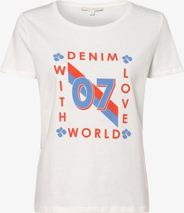 T-shirt Tom Tailor Denim w młodzieżowym stylu z okrągłym dekoltem