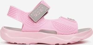 Różowe buty dziecięce letnie Multu na rzepy dla dziewczynek