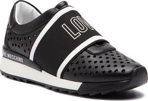 Buty sportowe Love Moschino w geometryczne wzory ze skóry ekologicznej w stylu casual