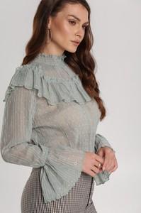 Bluzka Renee z długim rękawem z dekoltem typu choker