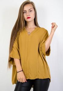 Żółta bluzka Olika z krótkim rękawem