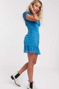 Niebieska sukienka The East Order mini
