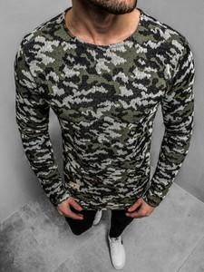 Zielony sweter Mechanich z bawełny