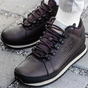 Brązowe buty zimowe New Balance w stylu casual sznurowane