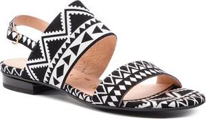 Sandały Oleksy z klamrami z płaską podeszwą z nubuku