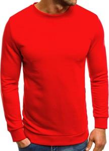 Czerwona bluza Ozonee w stylu casual z bawełny