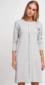 78ae5d9600 Sukienka Makadamia z dresówki midi w stylu casual