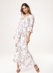 Sukienka born2be z krótkim rękawem kopertowa