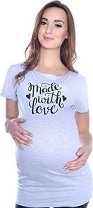 """Inne Komfortowy T-shirt """"Made with love"""" dla kobiet w ciąży 9080 melanż"""