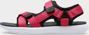 Różowe sandały 4F na rzepy z płaską podeszwą w sportowym stylu