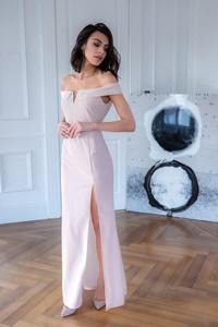 Różowa sukienka Popatu maxi