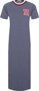 Sukienka Tommy Hilfiger z okrągłym dekoltem w stylu casual