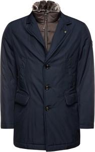 Granatowy płaszcz męski Joop! w stylu casual
