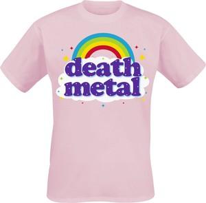 Różowy t-shirt Emp z krótkim rękawem z bawełny