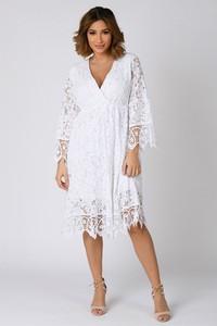 Sukienka Plus Size Company z dekoltem w kształcie litery v