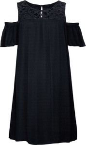 Czarna sukienka bonprix BODYFLIRT z krótkim rękawem