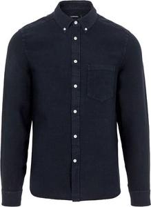 Niebieska koszula J. Lindeberg z kołnierzykiem button down w stylu casual z długim rękawem