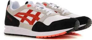 Buty sportowe ASICS sznurowane w młodzieżowym stylu ze skóry