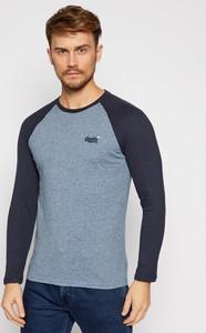 T-shirt Superdry w stylu casual z długim rękawem
