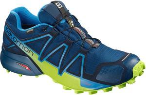 Niebieskie buty sportowe Salomon w sportowym stylu sznurowane