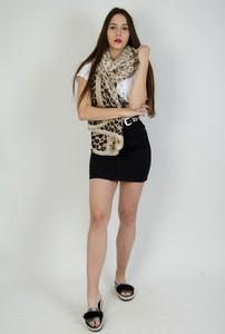 Czarna spódnica Olika z jeansu