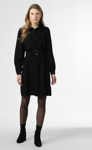 Czarna sukienka Y.A.S ze sztruksu koszulowa