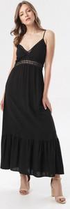 Czarna sukienka born2be maxi