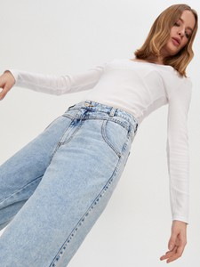 Jeansy House w street stylu z jeansu