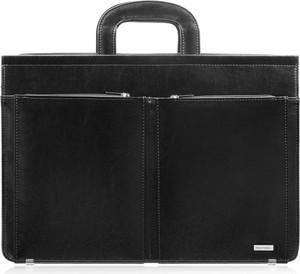 Czarna torebka Paolo Peruzzi ze skóry do ręki