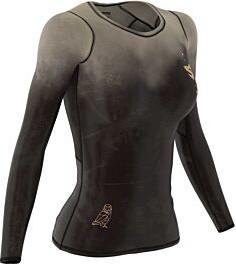 Brązowa bluzka Smmash w sportowym stylu z nadrukiem z tkaniny