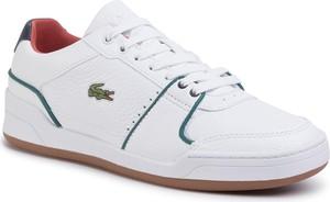 Buty sportowe Lacoste sznurowane ze skóry ekologicznej