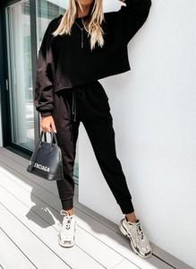 Czarne spodnie sportowe Sandbella w sportowym stylu