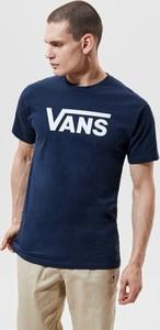 Niebieski t-shirt Vans w młodzieżowym stylu