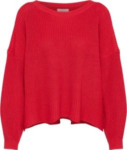 Różowy sweter Only z dzianiny