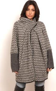 Płaszcz Plus Size Fashion z wełny
