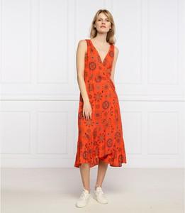 Czerwona sukienka Desigual midi