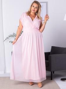 Sukienka KARKO z dekoltem w kształcie litery v
