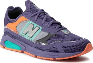 Fioletowe buty sportowe New Balance sznurowane