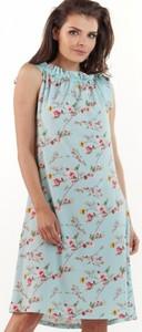 Niebieska sukienka Awama bez rękawów