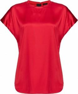Bluzka Pinko z okrągłym dekoltem z satyny
