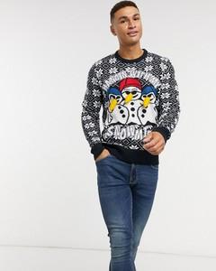 Sweter Brave Soul w młodzieżowym stylu z nadrukiem